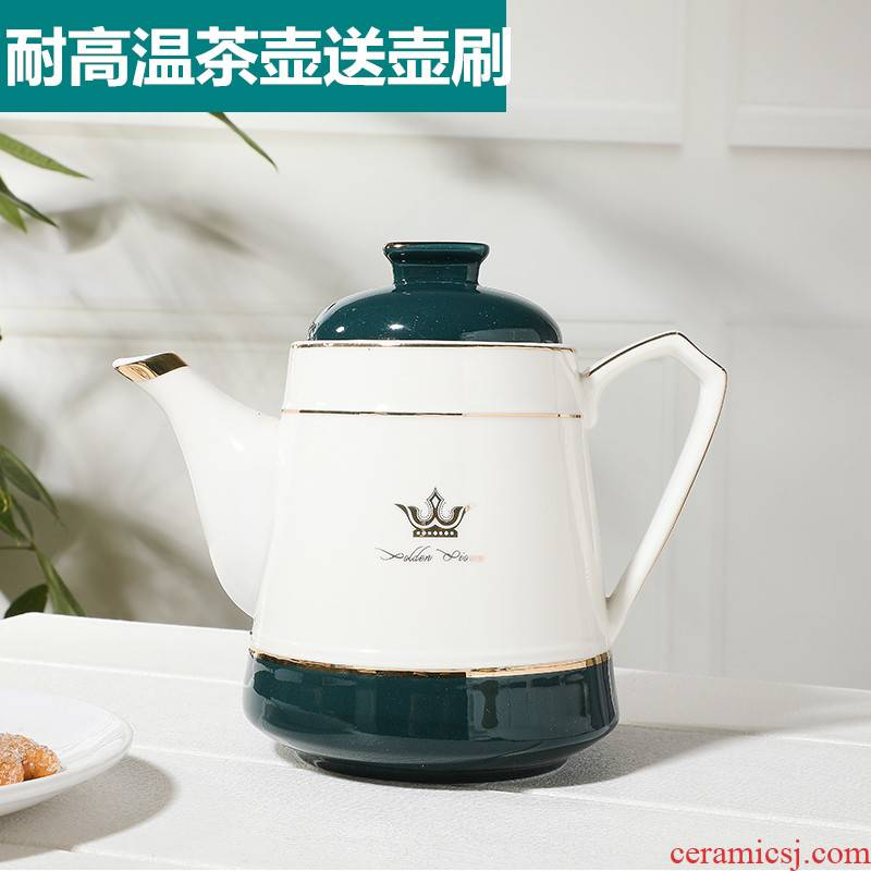 Ceramic teapot household cold single pot, kettle large to hold to thermal belt filter hole teapot cool coffee pot, kettle