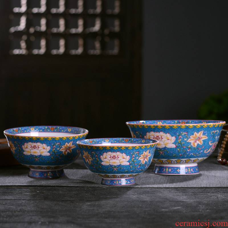 Chinese jingdezhen ceramics tableware large bowl noodles in soup porridge high quality ipads China antique high single use