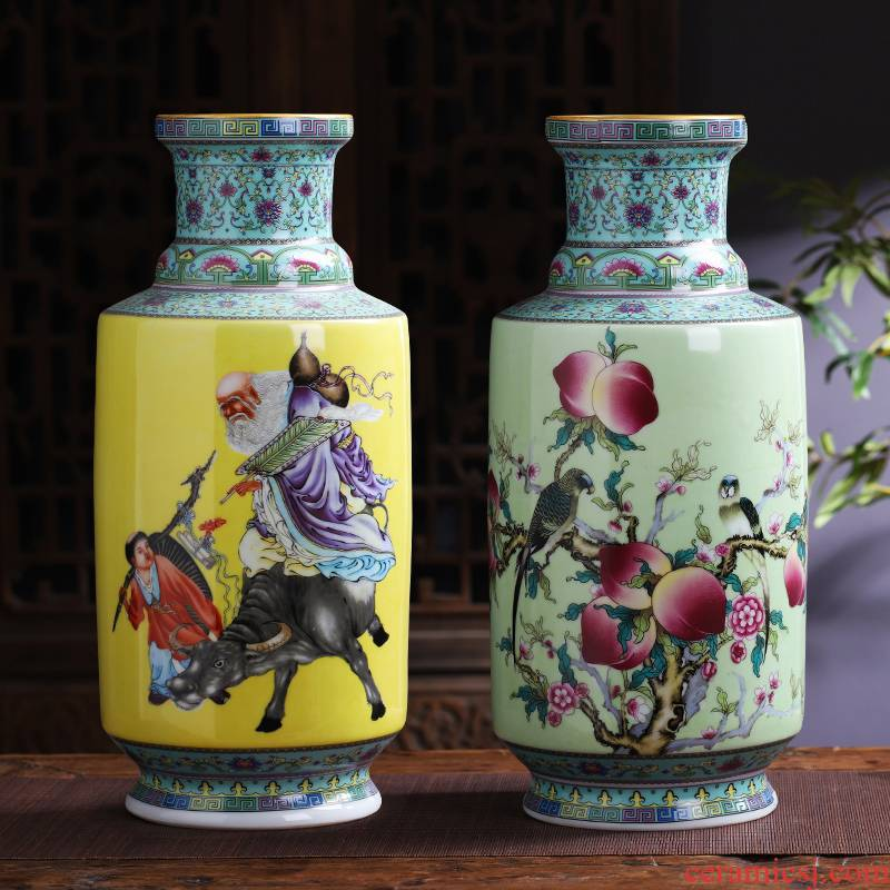 Jingdezhen ceramics antique vase furnishing articles sitting room flower arranging classical household TV ark adornment handicraft decoration
