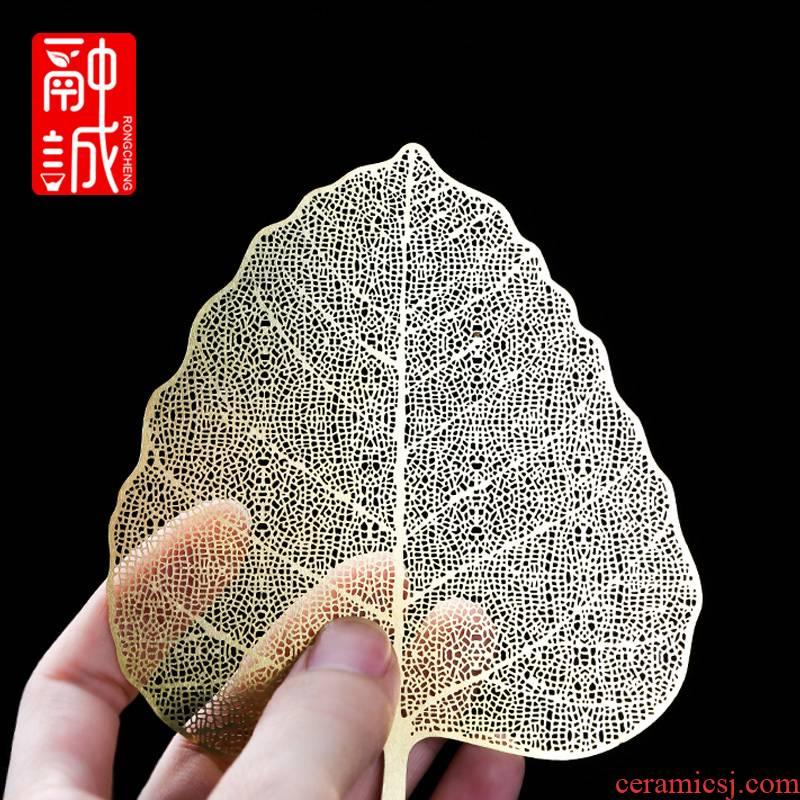 Creative bodhi leaf tea filter leaves cooper) filter kung fu tea accessories tea tea tea strainer