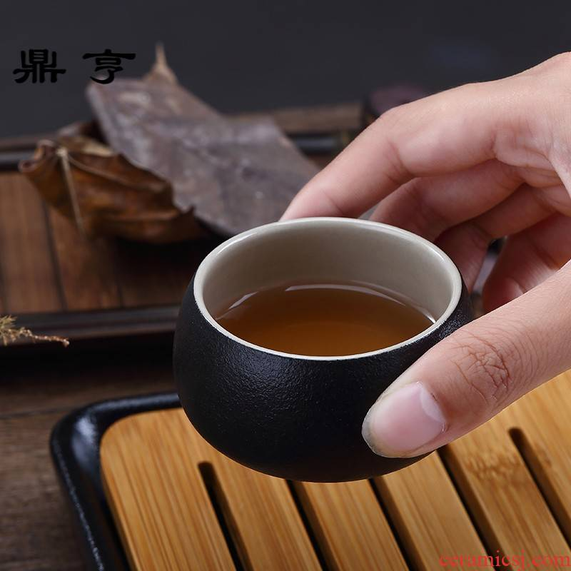 Ding heng ceramic six pieces of bamboo kung fu tea set travel suit Japanese a pot of two cups of household contracted package