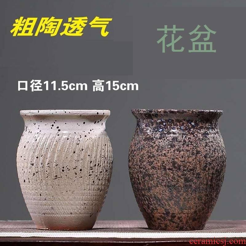 Ceramic of large diameter circular white flower pot in zen basin Ceramic decorative is suing spell porcelain pot on the ellipse