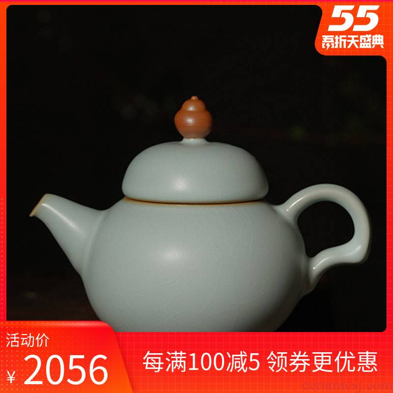 Your up little teapot single pot of jingdezhen ceramics slicing can be a small hand ice crack glaze celadon high temperature reduction