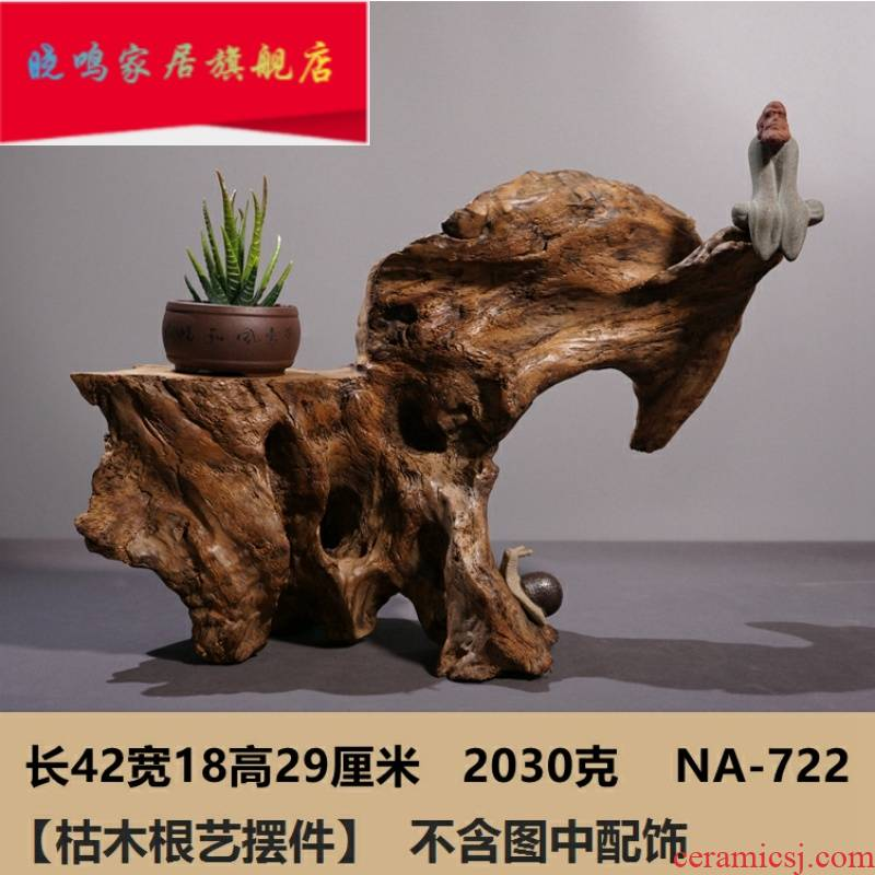 Weathering dead tree root carving exhibition base TV ark, soft adornment miniascape of zen furnishing articles calamus tea table