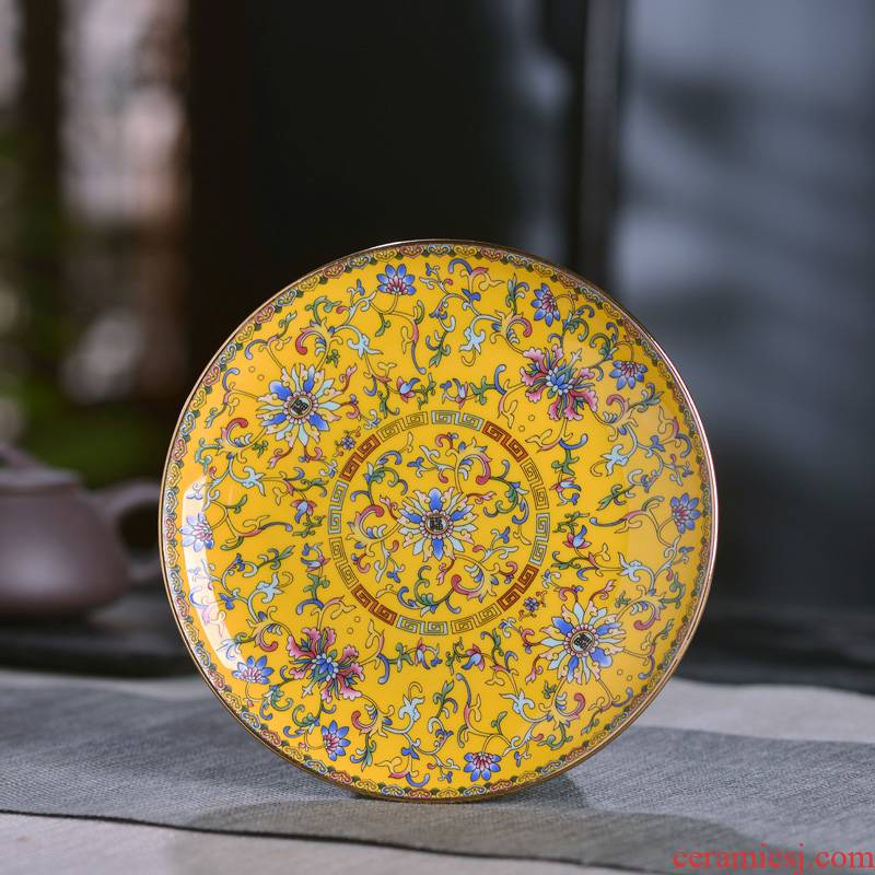 Jingdezhen ceramic dishes run suit household food dish creative move chopsticks meal vomit ipads plate slag disc plate