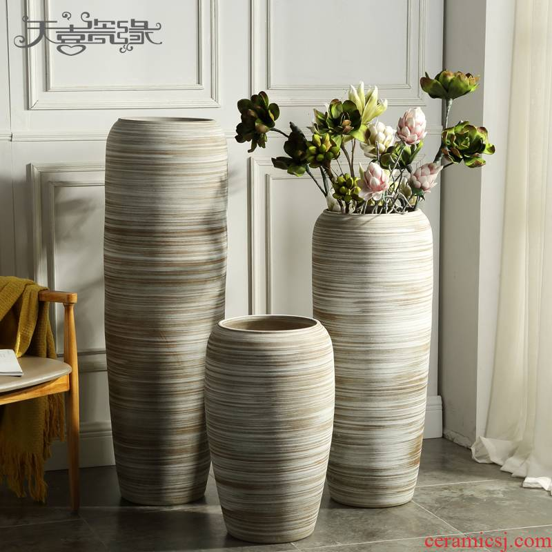 Europe type restoring ancient ways of large vases, jingdezhen ceramics creative furnishing articles villa living room window decoration flower arrangement