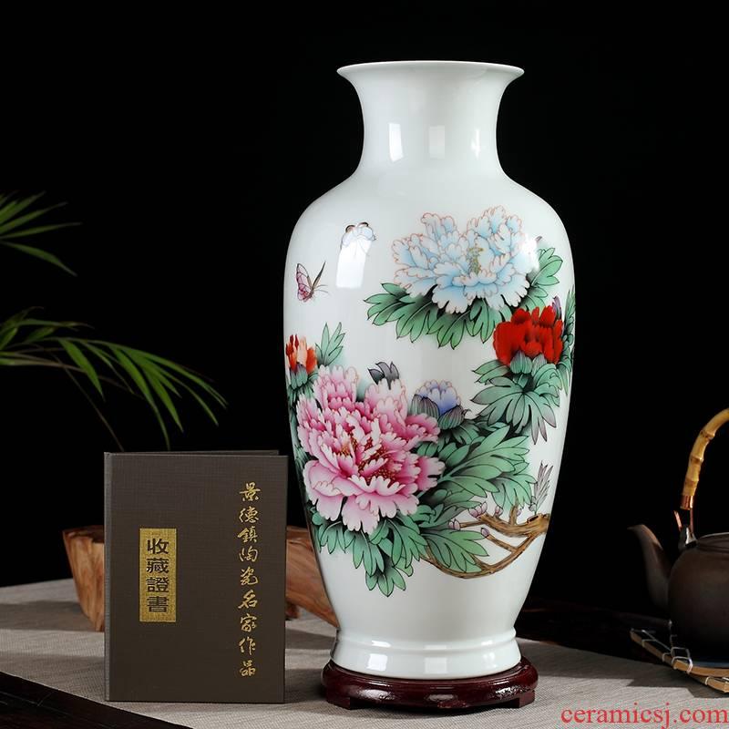 0975 jingdezhen manual furnishing articles hand - made ceramic vase flower arrangement sitting room desk mesa porcelain decorative arts and crafts