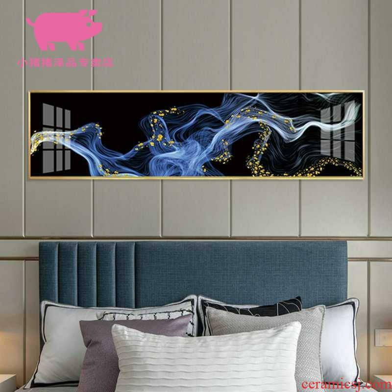 Light key-2 luxury banner crystal porcelain painting painting the living room sofa setting wall of bedroom the head of a bed decoration European - style room abstract to hang a picture