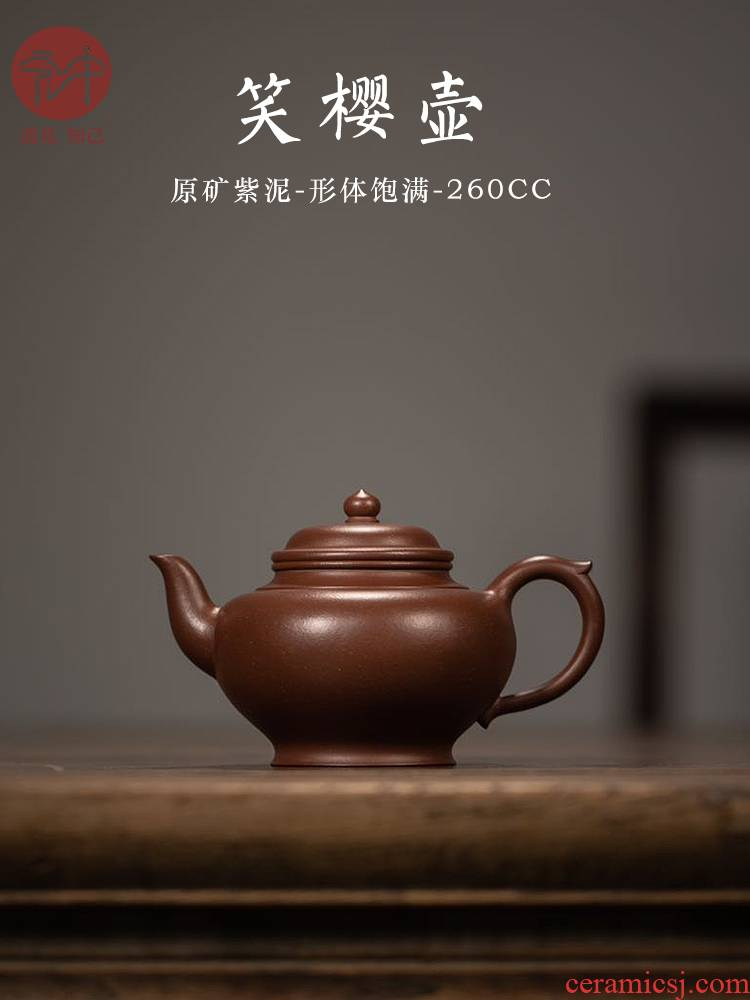 The new pure manual yixing it home bubbles in The macro undressed ore old purple clay teapot kung fu tea set