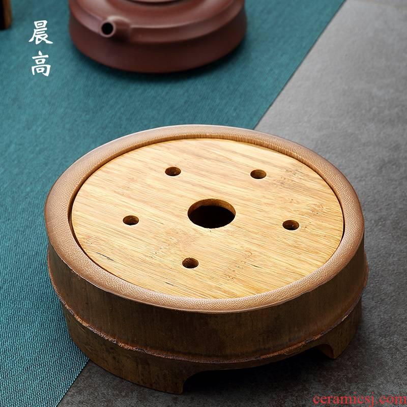 Morning high pot bearing the saucer it a pot pad dry little cup mat ground tea table tea accessories saucer dish