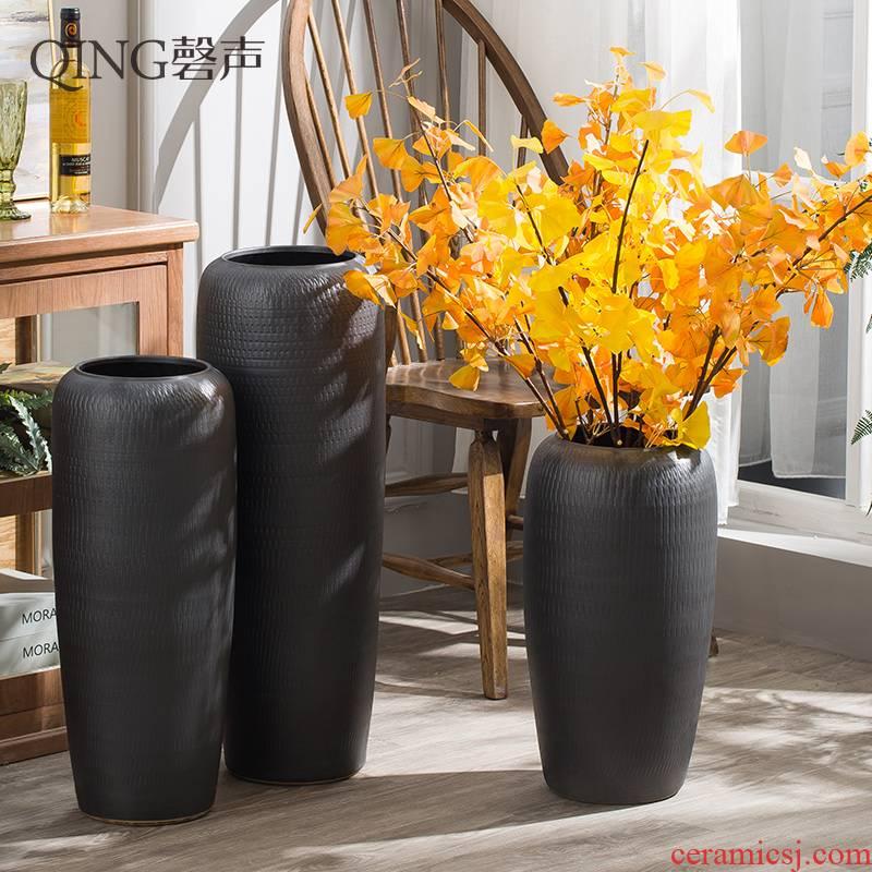 Ceramic vase of large sitting room porch place flower arranging dried flower adornment hotel villa suit household porcelain
