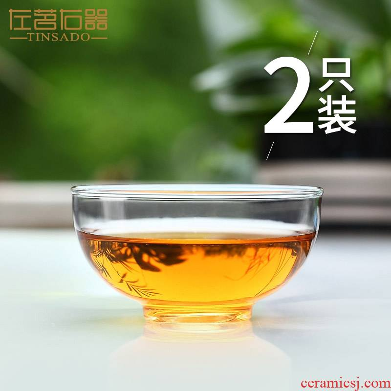 ZuoMing right is more transparent glass tea cup small heat - resistant coffee cup sample tea cup kunfu tea cup