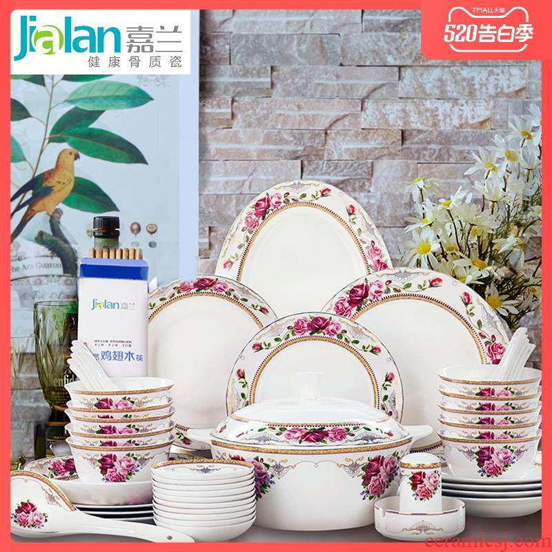 Garland 56 first European ipads porcelain tableware suit household chopsticks combination dishes dishes tangshan ceramics