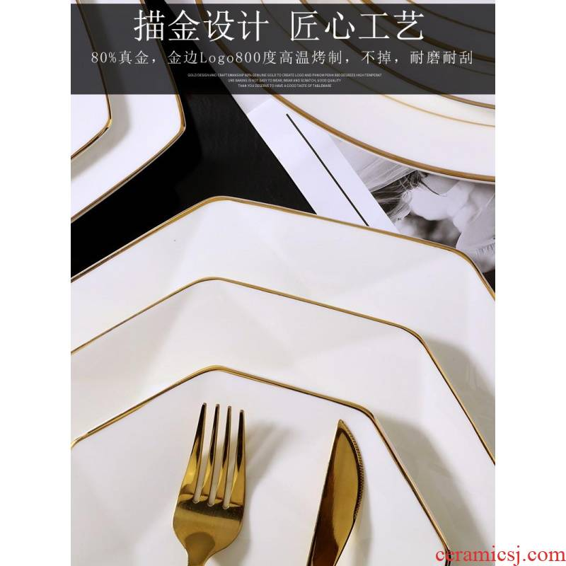 Ipads China custom LOGO hotel table setting up phnom penh plates ipads plate plate beefsteak disk platter, square, round plate