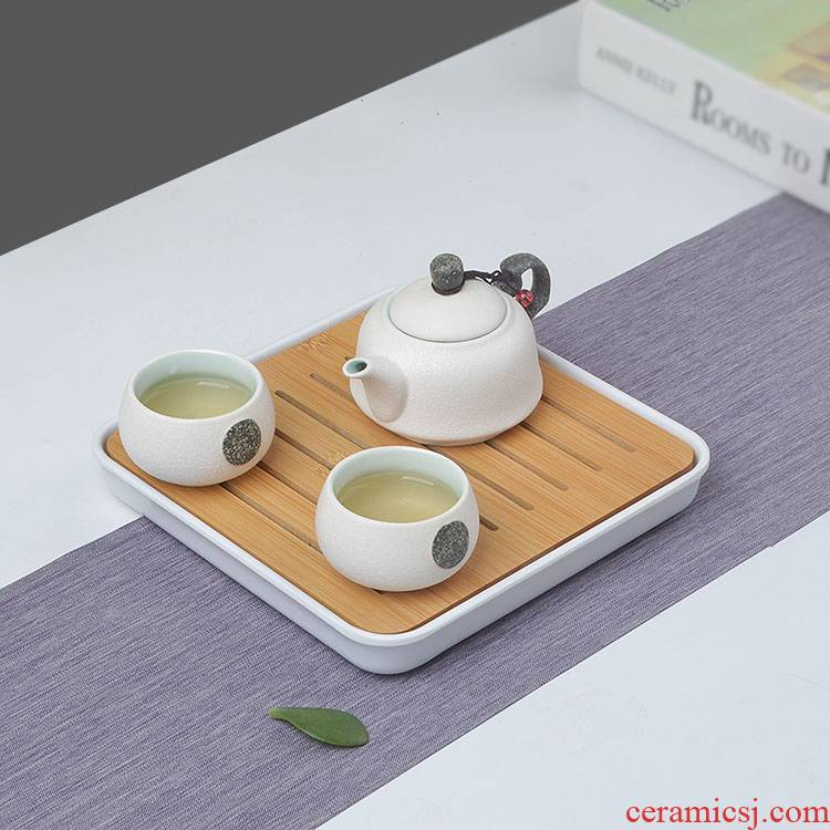 22 household Ceramics from a pot of small crack cup hotel tea tea tray was sea kung fu tea set of the home stay facility