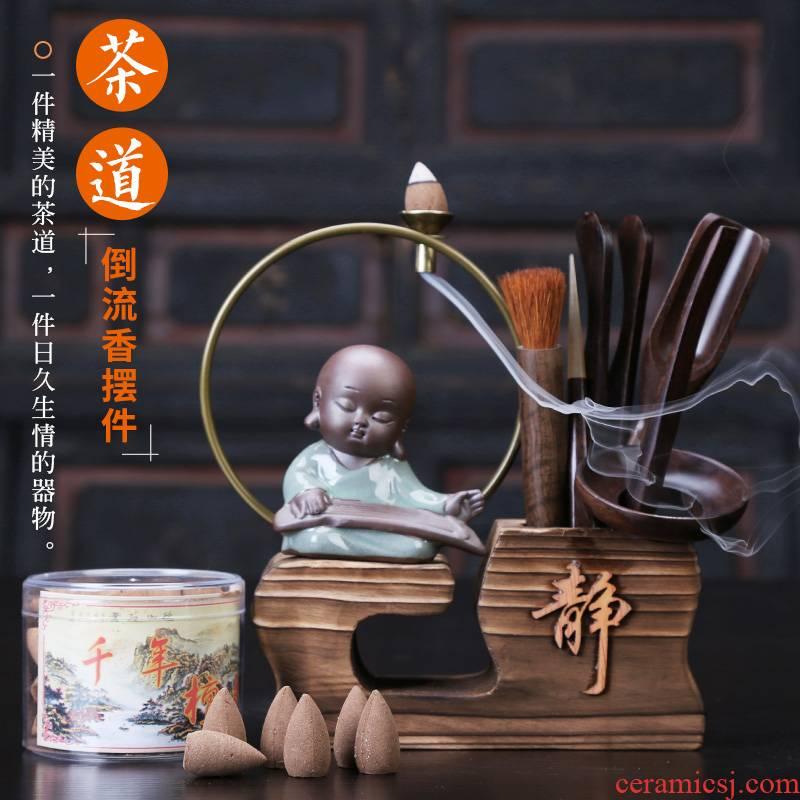 Auspicious industry kung fu tea sets accessories 6 gentleman ebony accessories tea pets play furnishing articles tea six gentleman
