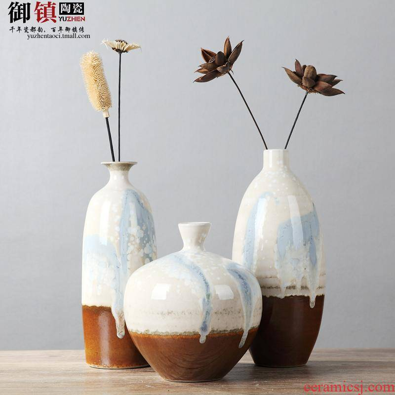 Classical household act the role ofing is tasted furnishing articles three - piece ceramic vase living room TV cabinet example room decoration creative arts and crafts