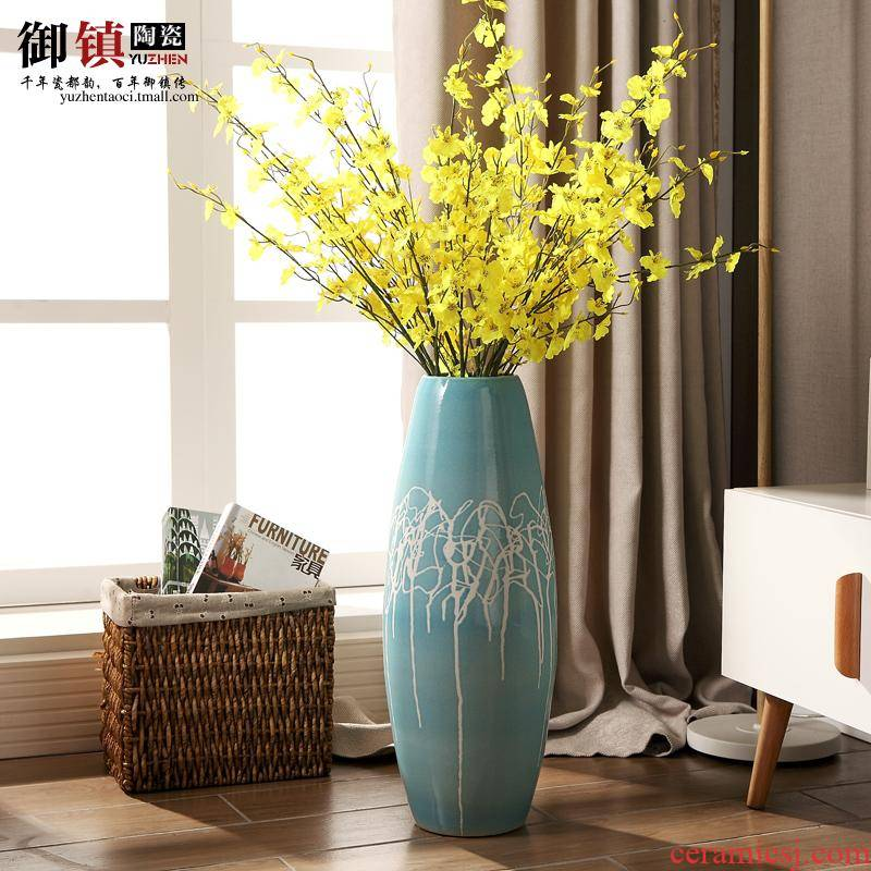 Jingdezhen ceramic vase of large soft outfit art furnishing articles contracted and I European creative home sitting room decoration