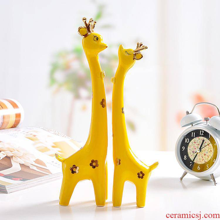 The Nordic elk contracted wind modern ceramics furnishing articles of creative home wine sitting room adornment family small ornament