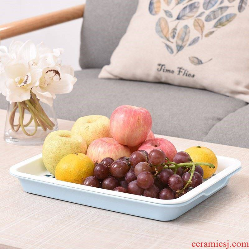 Break the fruit bowl bowl tea tray basket double home sitting room tea tray tray was drop large multi - purpose water bottle kitchen