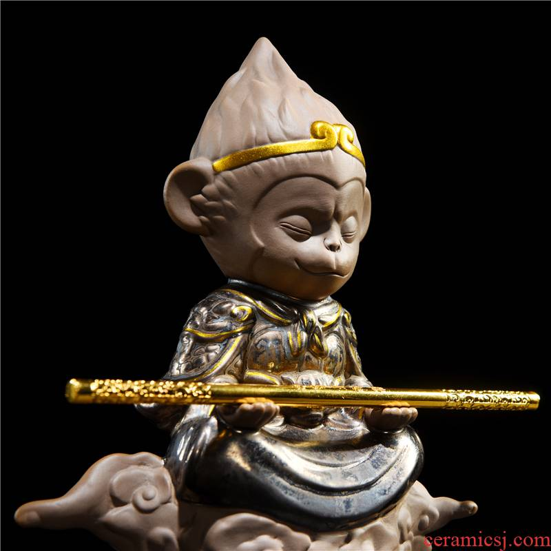 The Monkey King Monkey King place Chinese zen household act The role ofing is tasted soft outfit decoration art creative ceramic arts and crafts