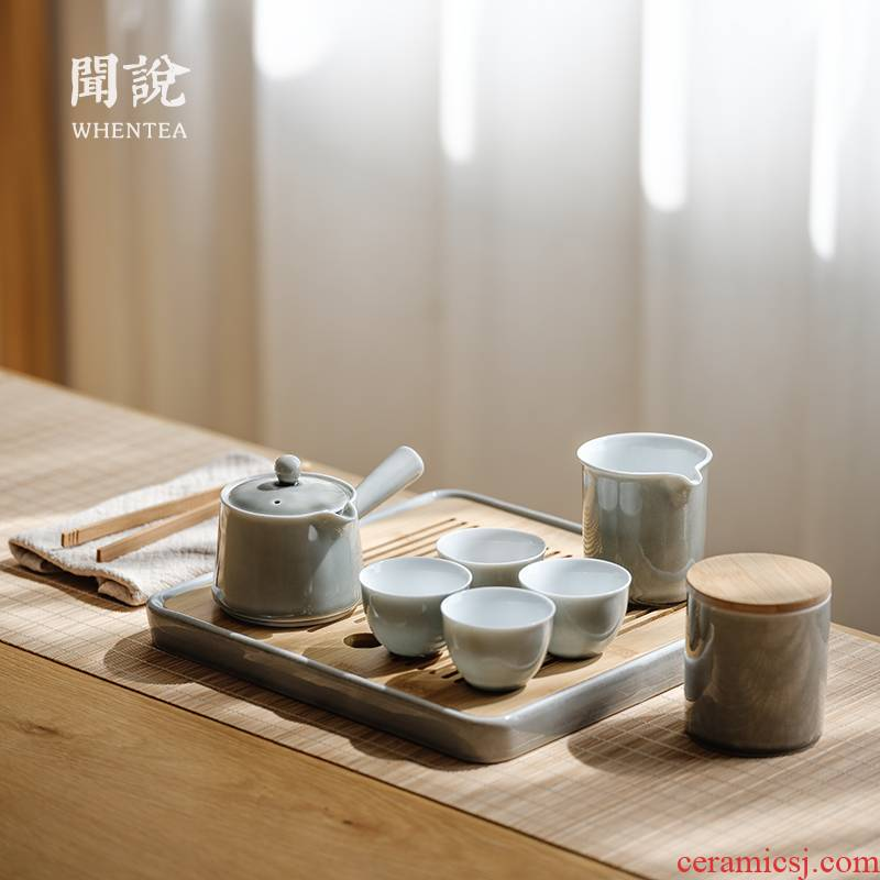 Heard of contracted the teapot tea | Japanese soot suit household ceramic cups zen kung fu tea tray was gift boxes