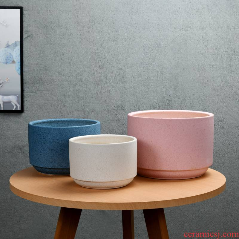 Large - diameter pot ceramic extra Large wholesale green plant other I and contracted sitting room balcony flowerpot pack mail clearance