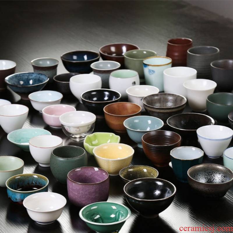 Play built lamp that individual sample tea cup elder brother up of blue and white porcelain cups single CPU kung fu tea set ceramic masters cup size