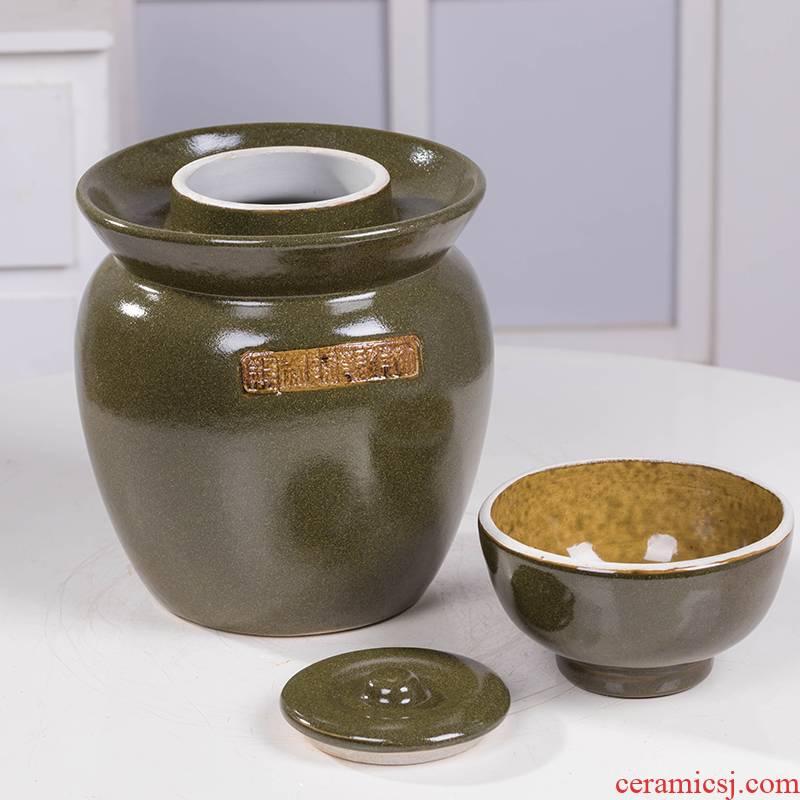 Sichuan pickle jar at the end of the size of jingdezhen ceramics thickening tea dense eggs home kitchen storage pickle jar
