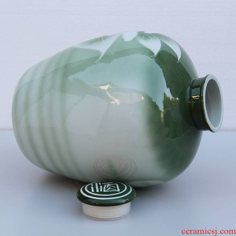 Jingdezhen 10/20/50 jin ceramic jar sealed empty wine bottle mercifully wine bottle hoard it home