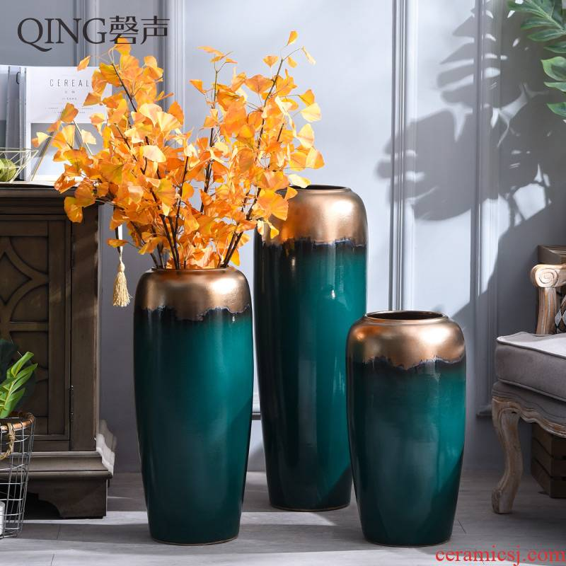 Contracted and I ceramic vase of large sitting room place dried flower arranging flowers home decorations porch European - style decoration