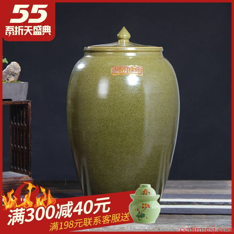 Jingdezhen ceramic barrel ricer box tea oil cylinder jars at the end of the cylinder tank 50 kg 100 jins 30 jins 20 jins