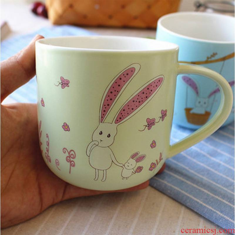 Jingdezhen ceramic cup express children mark cup creative cartoon lovers ultimately responds cup of milk coffee cup