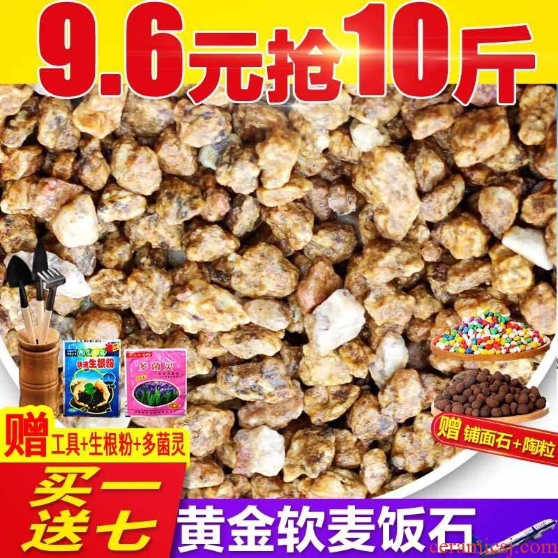 Gold soft medical stone granular soil nutrient soil meaty plant paving stone dedicated much meat with soil clay ceramsite cultivation