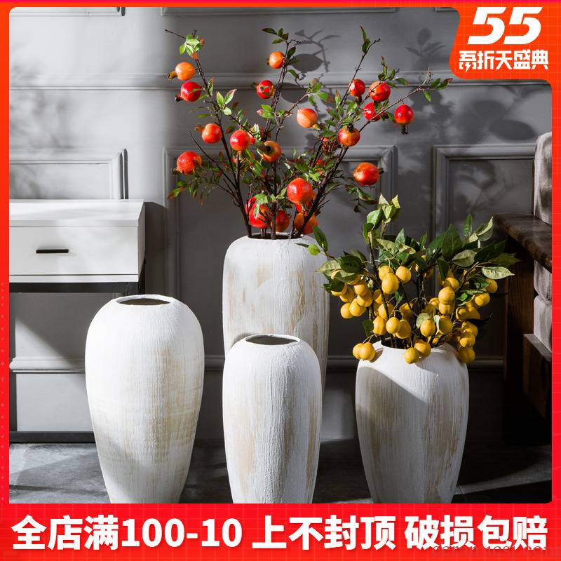 Ceramic vase landing place flower arrangement sitting room simulation flower implement I and contracted household adornment large northern Europe