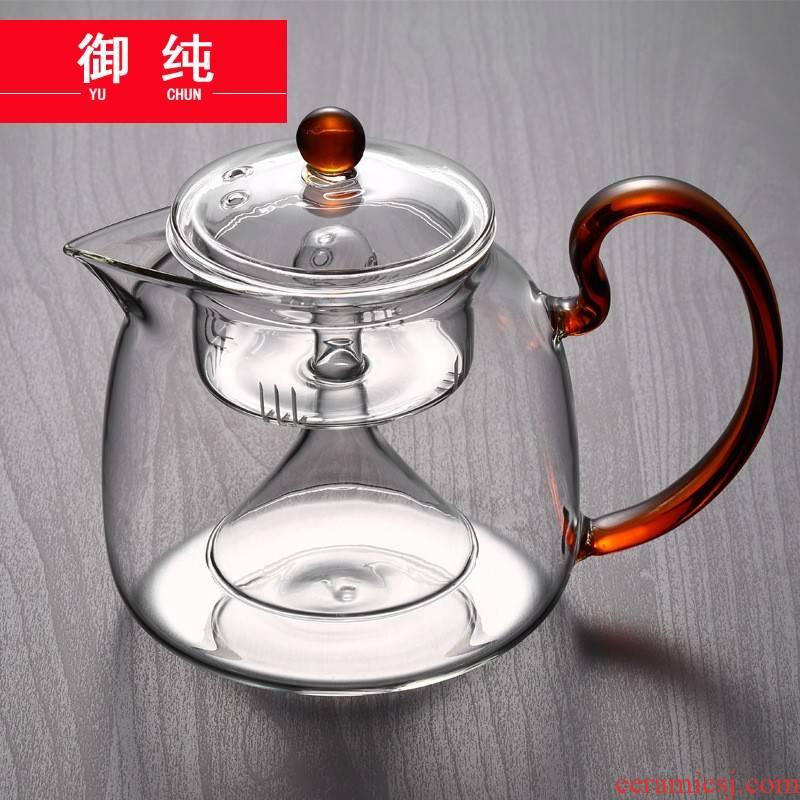 Royal steamed pure heat - resistant glass tea set glass cooking pot in the kettle boiled tea, the electric TaoLu steam pot