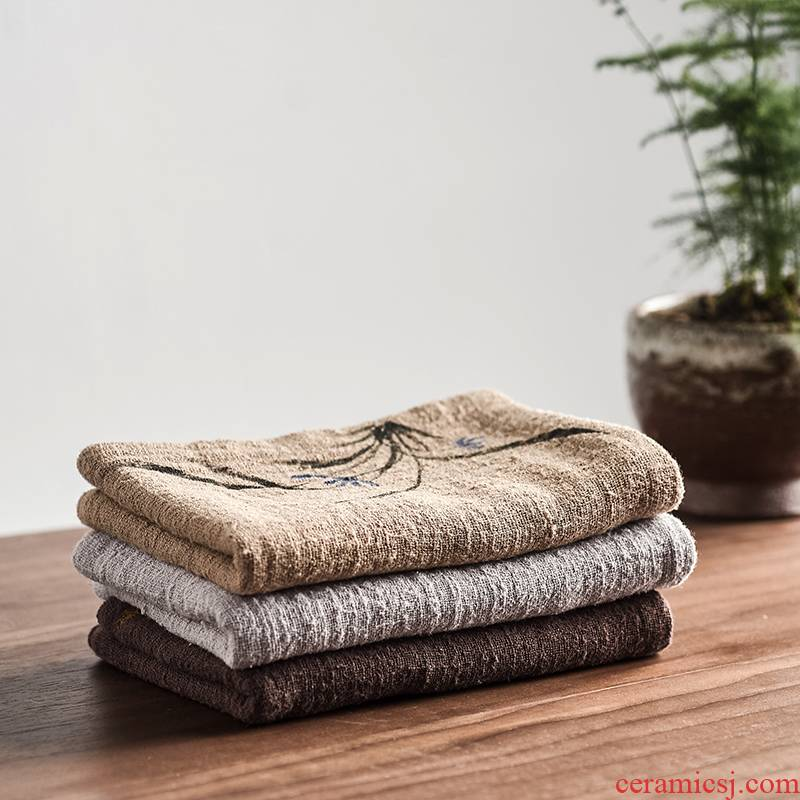 The high time kung fu tea tea accessories tea tray tea table with thick cotton tea towel bibulous tea table cloth with a tea towel