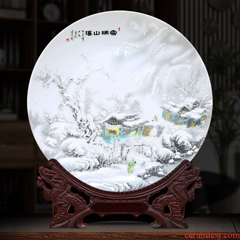To ceramics khe sanh snow decorative plate