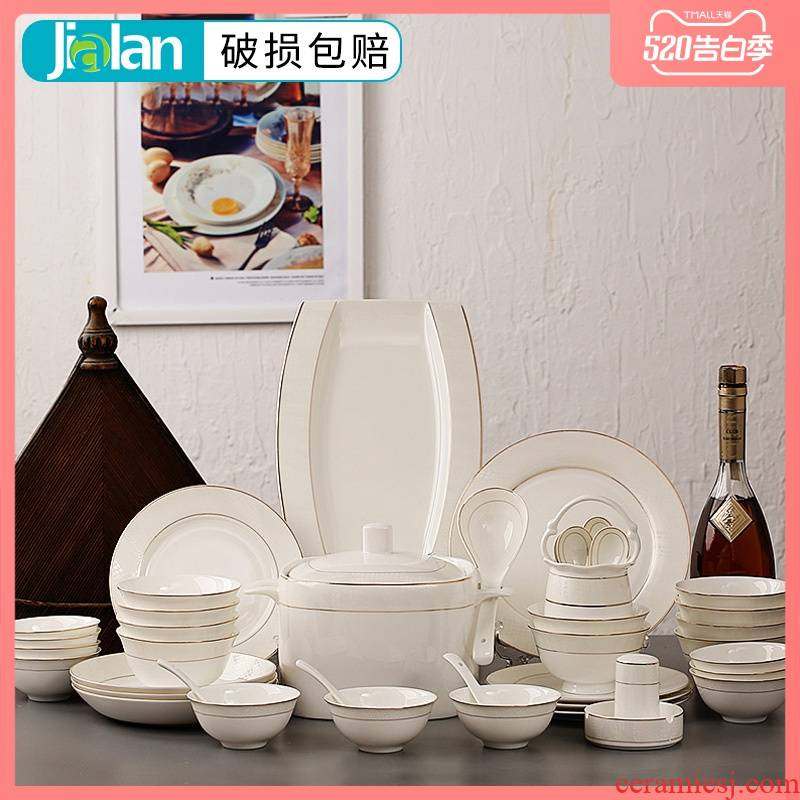 Garland 56 ipads porcelain tableware suit household up phnom penh Japanese dishes dishes suit composite ceramics gifts