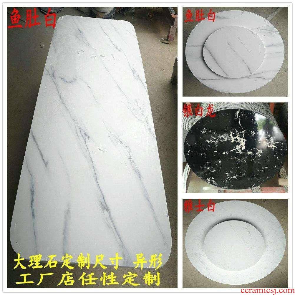 Kitchen countertops, marble panels JiaGongTai desktop tea table surface table surface of TV ark, plate on the windowsill