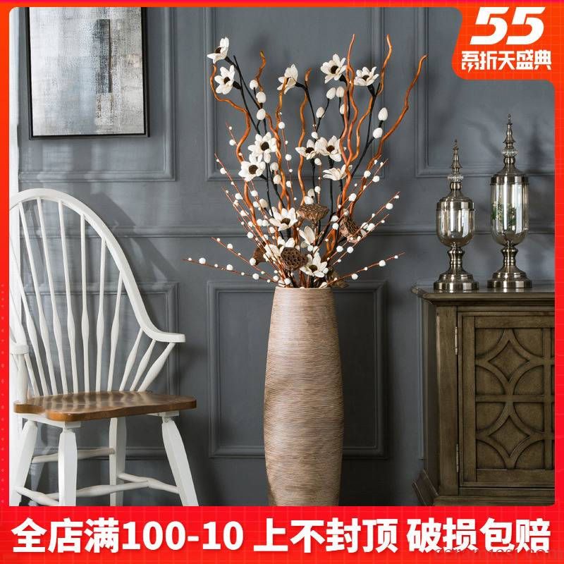Ceramic floor tall vase simulation flower arranging I and contracted sitting room porch place hotel restaurant decorations