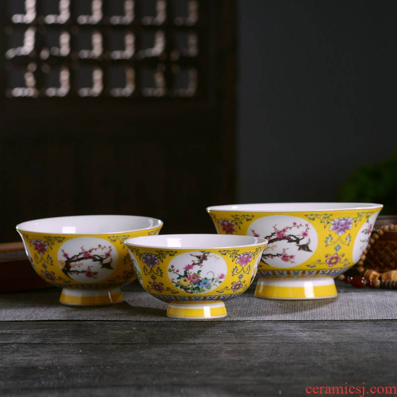 Jingdezhen ceramics dishes spoon suit Chinese style household ipads porcelain rice noodles in soup bowl longevity bowl restaurant tableware