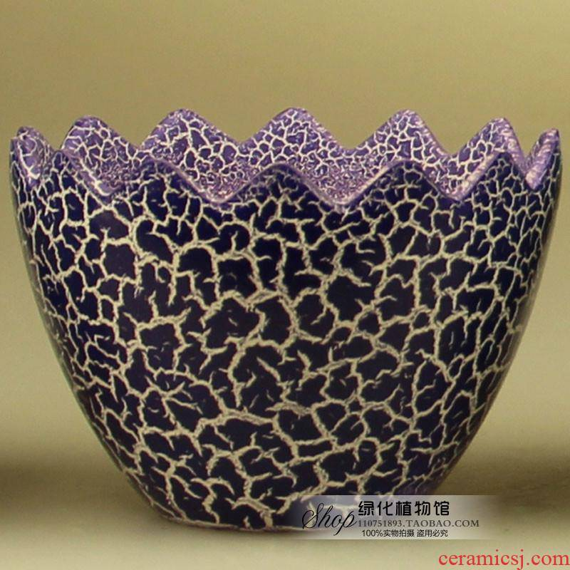 Eggshell egg cartoon ceramic flower flower shape ground desktop office balcony green plant large vases, flower pot