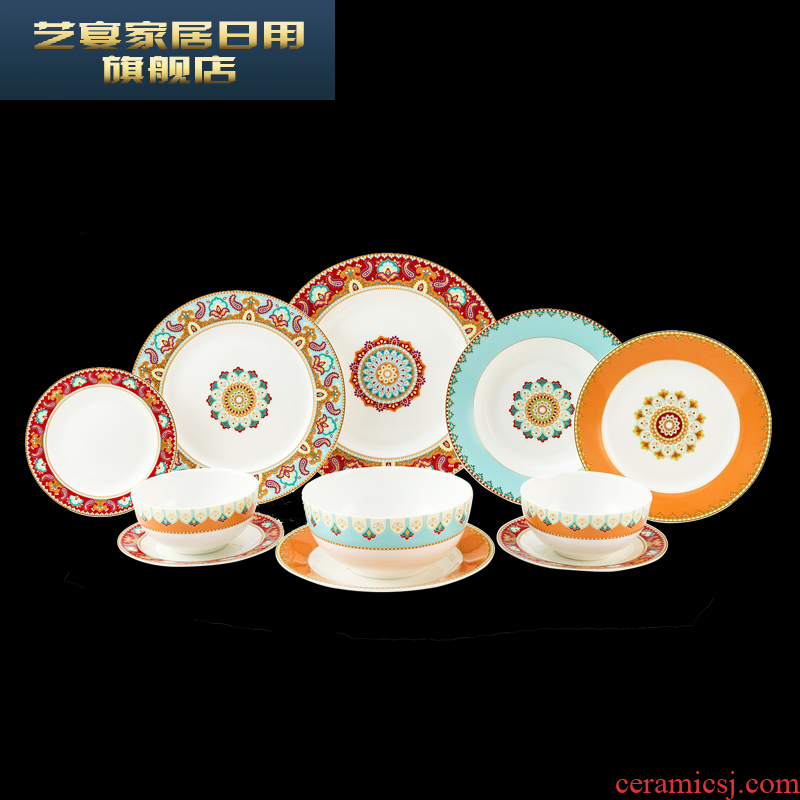 8 ld ipads China is festival national wind f ruixiang in 4.5 inch bowl dish dish dish suits for the home plate