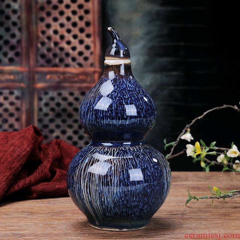 A kilo ceramic bottle gourd containers bulk empty bottle 1 catty blank bottle wine wine collection