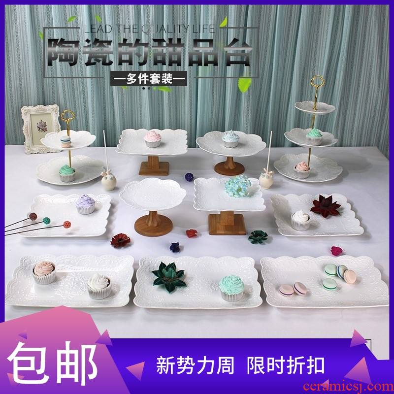 Dessert display rack furnishing articles suit buffet tea table wedding multi - layer cake Dessert tray shelf