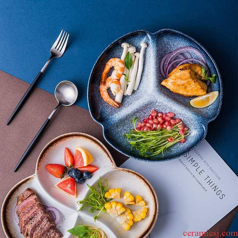 Creative dishes one food tableware separated Japanese - style breakfast tray household ceramics adult dish plate frame plate