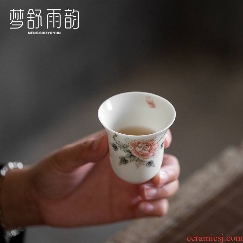 Dream ShuYu rhyme kung fu tea set small hand - made ceramic tea tea cup a single master vintage Japanese sample tea cup