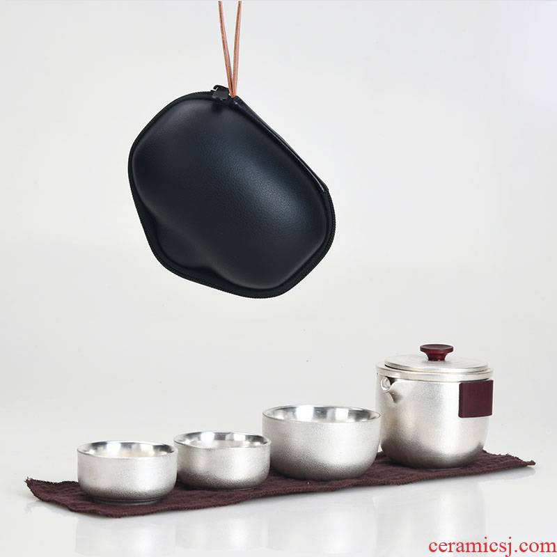 Xu ink to crack a cup of black hand coppering. As silver travel kung fu tea set is suing household contracted mini portable package