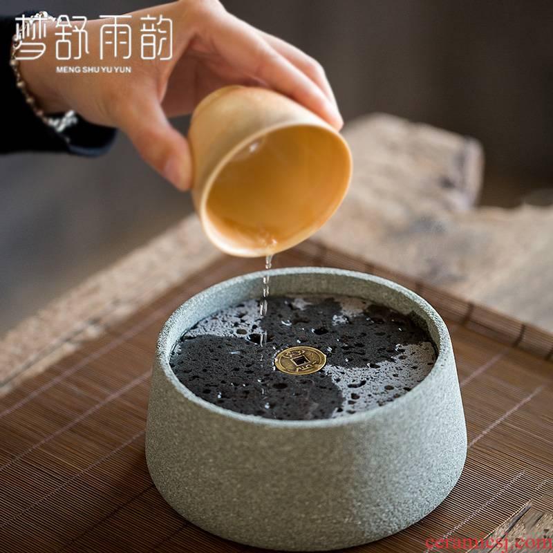 Dream ShuYu rhyme bluestone old pot set a pot of ceramic bearing pad dry mercifully tea tray was saving water zen tea Japanese restoring ancient ways